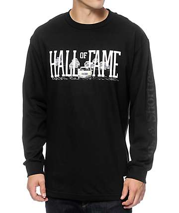 40s & Shorties x Hall Of Fame Bronco Black Long Sleeve T-Shirt