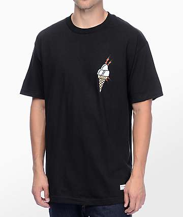 40s & Shorties Ice Cream Black T-Shirt