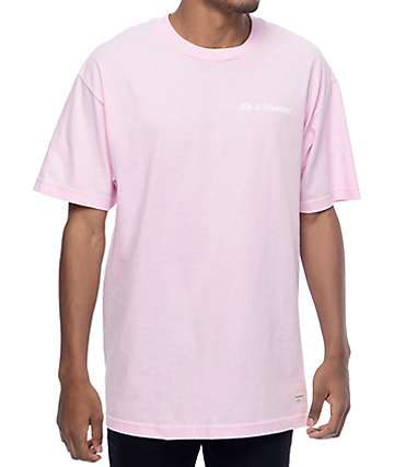 40s & Shorties Text Logo Pink T-Shirt