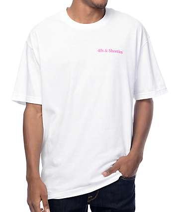 40s & Shorties Text Logo White T-Shirt