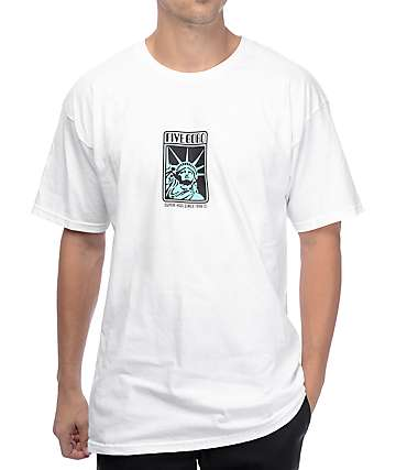 5BORO Liberty White T-Shirt