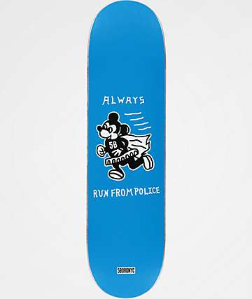"5Boro Always Run 8.25"" Blue Skateboard Deck"