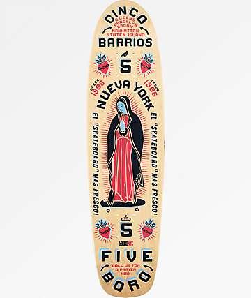"""5Boro Cinco Barrios 7.6"""" tabla de skate cruiser en azul y rojo"""