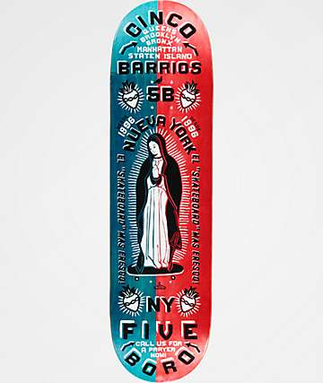 "5Boro Cinco Barrios 8.5"" Split Veneer Skateboard Deck"