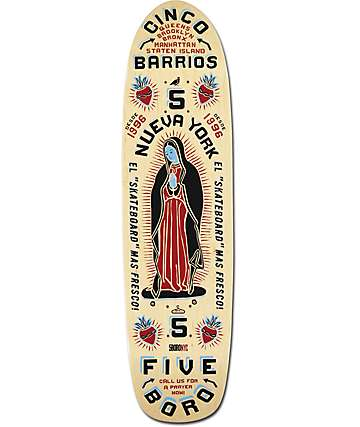 "5Boro Cinco Barrios Natural 8.0""  Cruiser Skateboard Deck"