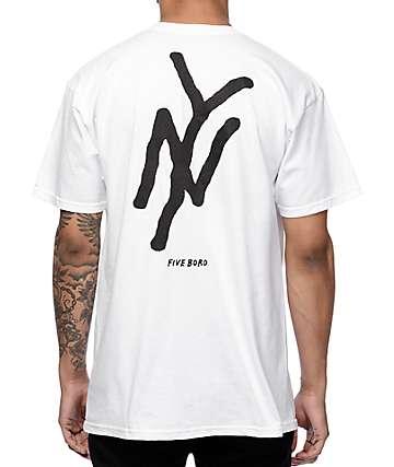 5Boro NY White T-Shirt