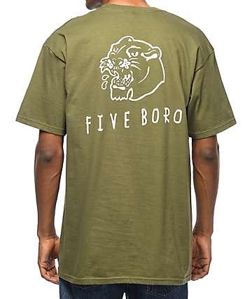 5Boro Panther Army camiseta verde