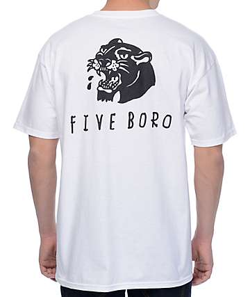 5Boro Panther White T-Shirt