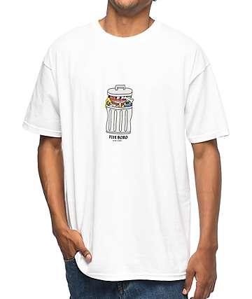 5Boro Trash camiseta blanca