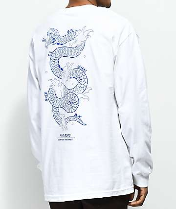 5Boro Yokohama White Long Sleeve T-Shirt