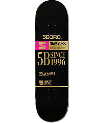 "5boro Akers VHS 8.5"" Skateboard Deck"