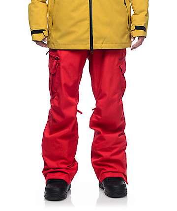 686 Authentic Smarty pantalones cargos de snowboard en rojo