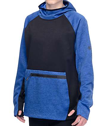 686 GLCR Exploration Blue & Black Tech Fleece Hoodie