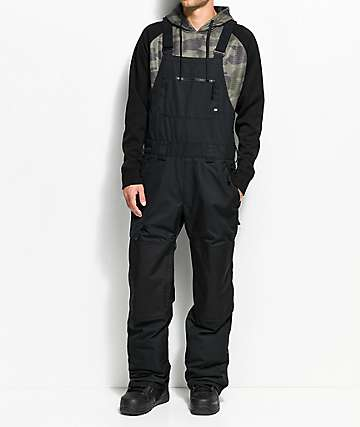 686 Hot Lap Black 15K Snowboard Bib Pants