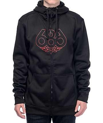 686 Icon chaqueta polar en negro
