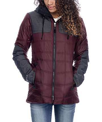 686 Uptown Black Ruby Insulated Jacket