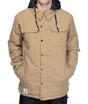 686 Woodland 10K Khaki Snowboard Jacket