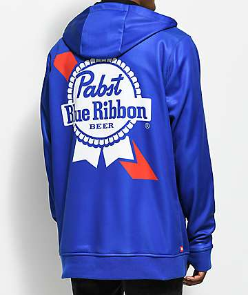 686 x PBR Icon Bonded Tech Fleece Blue Zip Hoodie