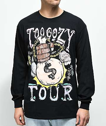 A$AP Mob Tour Graphic Black Long Sleeve T-Shirt