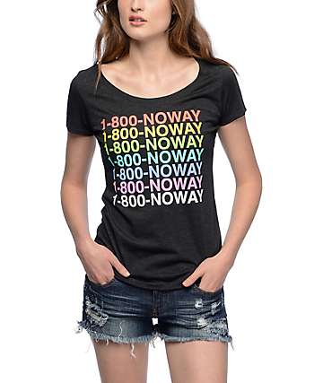 A-Lab 1-800 No Way Black Scoop Neck T-Shirt