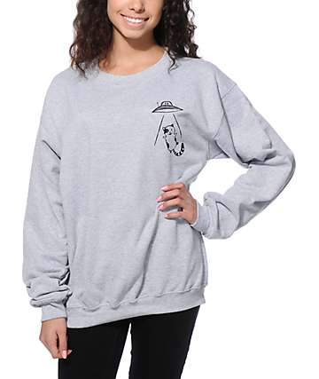 A-Lab Abduction Cat Crew Neck Sweatshirt