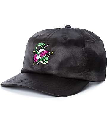 A-Lab Billy Black Satin Snapback Hat