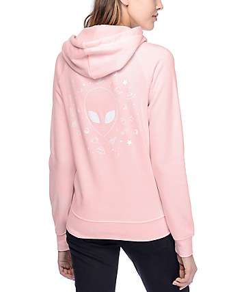 A-Lab Brealynna Far Out Alien sudadera rosa con capucha