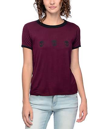 A-Lab Byrl Alien camiseta ringer de color mora