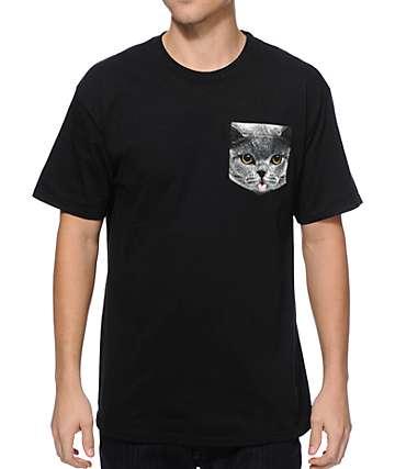 A-Lab Cat On A Pocket camiseta con bolsillo
