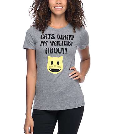 A-Lab Cats What Talkin About Grey T-Shirt