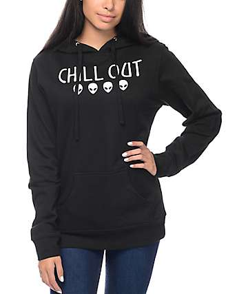 A-Lab Chill Out Alien Black Hoodie