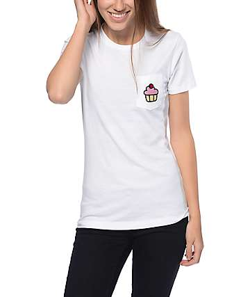 A-Lab Cupcake White Pocket T-Shirt