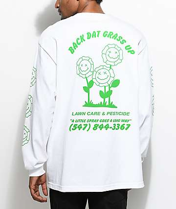 A-Lab Dat Grass Long Sleeve White T-Shirt