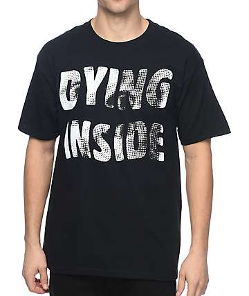 A-Lab Dying Inside Black T-Shirt