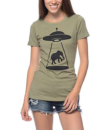 A-Lab Elephant Abduction Crew Neck T-Shirt