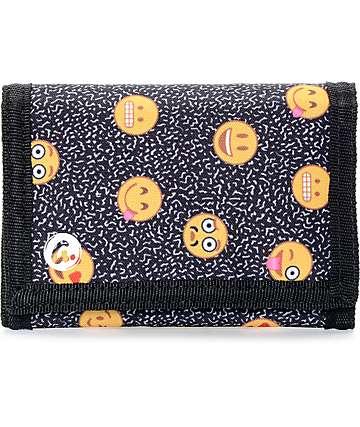 A-Lab Emocoster Black Tri Fold Wallet
