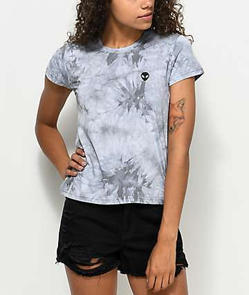 A-Lab Ezra Alien Grey Tie Dye T-Shirt