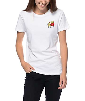 A-Lab Fast Friends Boyfriend White T-Shirt