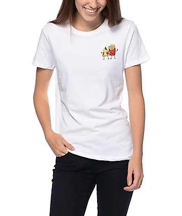 A-Lab Fast Friends camiseta estilo boyfriend en color blanco