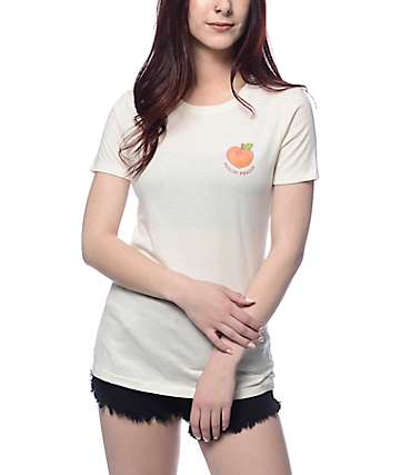 A-Lab Feelin Peachy White T-Shirt