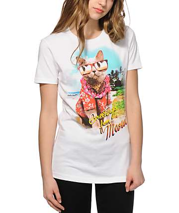 A-Lab Greetings From Meowi T-Shirt