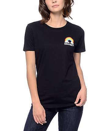 A-Lab Grumpy Rainbow Black T-Shirt