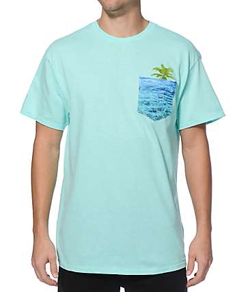 A-Lab Hidden Beach Babe Pocket T-Shirt