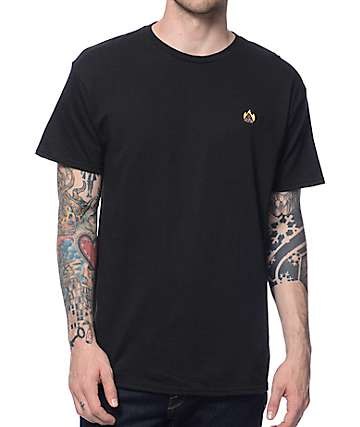 A-Lab Hot Shit Embroidery Black T-Shirt