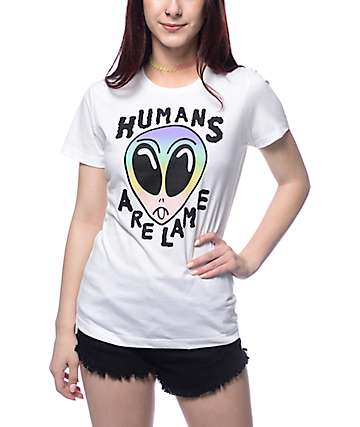 A-Lab Humans Are Lame White T-Shirt