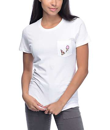 A-Lab Ice Cream & Pizza White T-Shirt