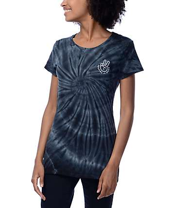 A-Lab Keeping It Weird Blue Tie Dye Boyfriend T-Shirt