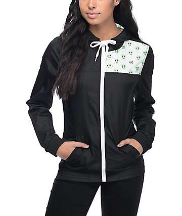 A-Lab Kenda Black & Alien Print Windbreaker