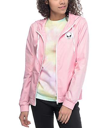 A-Lab Kenlie Aliens Light Pink Windbreaker Jacket