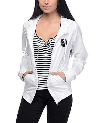 A-Lab Kenlie Far Out White Windbreaker